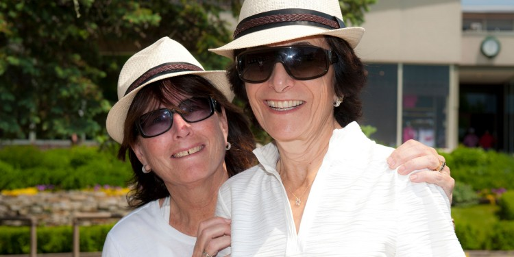 From the greens to the rough, Auxiliary volunteers like Ellen Amdursky (left) and Elaine Zeidel were out in full force to help ensure the success of the annual JGH Silver Star-Mercedes Benz Golf Classic. Their efforts were coordinated by Ms. Amdursky and Trudy Colton.