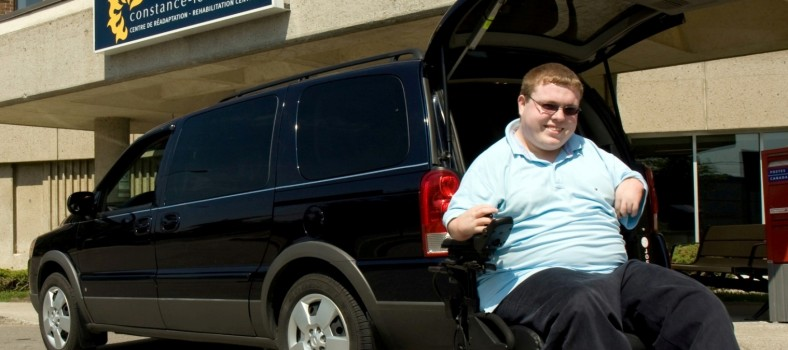 A client arrives at the Constance-Lethbridge Rehabilitation Centre in a minivan that he owns and drives. The vehicle was adapted to his needs, based on an assessment by the team in the Driving Evaluation and Vehicle Adaptation Program at Constance-Lethbridge, which is now in the same west-central healthcare network as the JGH.
