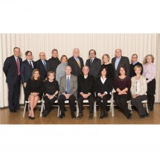 Seated (from left): Alyssa Yufe, Gloria Freedman, Dr. Lawrence Rosenberg, Alan Maislin, Gail Adelson, Linda Fortier and Lucyna M. Lach. Standing (from left): Dr. David Eidelman, Tony Loffreda, Howard Dermer, Ronald Waxman, Karen Rose Honegger, Allen F. Rubin, Samuel Minzberg, Vivian Konigsberg, Mordecai Yalovsky, John D'Andrea and Julie Roy. Not shown: Dr. Suzanne Levitz and Dr. Rubin Moe Becker.