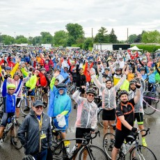 The Enbridge Ride to Conquer Cancer gets off to a wet but enthusiastic start.