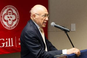 At McGill University in October 2017, Dr. Philip Gordon delivered his acceptance speech after receiving a Lifetime Achievement Award.