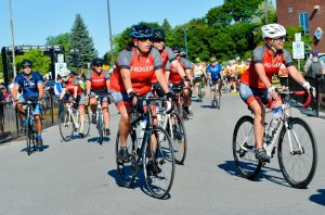 On the road in a tough but rewarding weekend of cycling in the Enbridge Ride to Conquer Cancer.