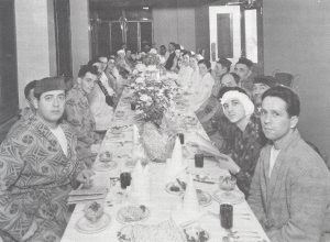 Passover seder for hospitalized patients in 1966.