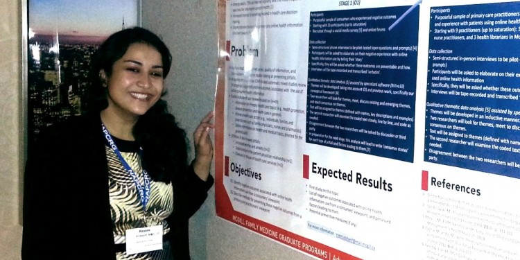 Dr. Reem el Sherif presented her research about online consumer health information at the annual meeting of the North American Primary Care Research Group.