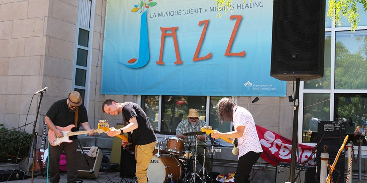 Psychedelic surf-rock band Les Surfants Terribles performed an outdoor set at the JGH Jazz Festival.
