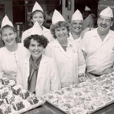 Personnel de la cafétéria en 1992