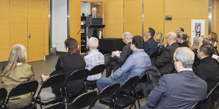 Dr Lawrence Rosenberg, président-directeur général, à la quatrième l'Assemblée publique d'information du CIUSSS du Centre-Ouest-de-l'Île-de-Montréal.