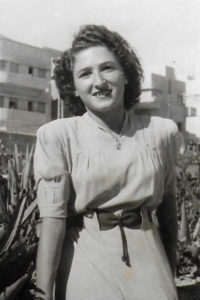 Naomi Weiss as a young woman in Israel.