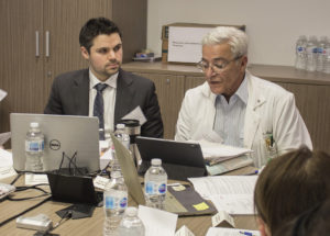 Dr. Marc Afilalo (right), Chief of Emergency Services, and Dr. Paul Brisebois, an Emergency physician, co-chaired and co-organized the tabletop simulation related to the coronavirus.