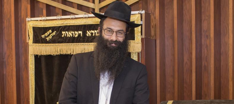 Le rabbin Barak Nissim Hetsroni, aumônier à l'Hôpital général juif.