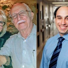 Quand Antonio José Santiago (à gauche) a commencé à présenter les symptômes d'un AVC à son domicile, son épouse, Eunice Gomes Santiago, a utilisé Zoom pour contacter le Dr Mark Karanofsky, qui a confirmé le diagnostic et les a avisés de ce qu'ils devaient faire.