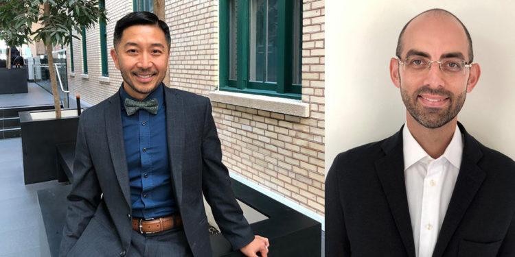 Tung Tran (à gauche), directeur du programme de Santé mentale et dépendance du CIUSSS, et le Dr Marc Miresco, directeur des Services externes de psychiatrie pour adultes à l'HGJ.
