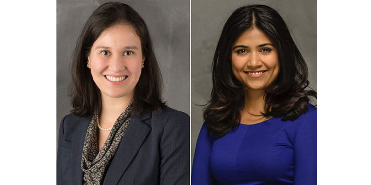 Dr. Allison Pang (left) and Dr. Ipshita Prakash