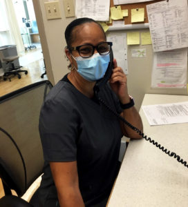 Nurse Clinician Mandy Collins in the Segal Cancer Centre.