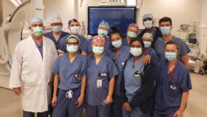 Équipe du laboratoire de cathétérisme cardiaque de l'HGJ.