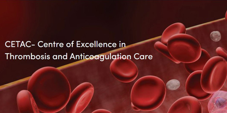 Illustration from the home page of the new website of the Centre of Excellence in Thrombosis and Anticoagulation Care.