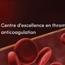 Illustration de la page d'accueil du nouveau site web du Centre d'excellence en thrombose et anticoagulation.