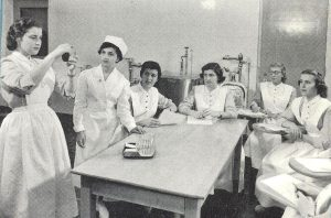 A classroom demonstration in the JGH School of Nursing.