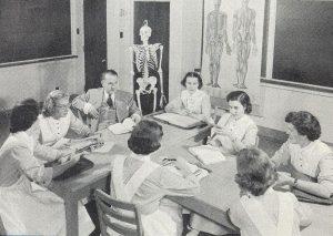 Anatomy class in the JGH School of Nursing.